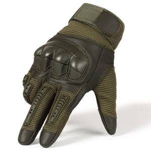 Full Finger Tactical Army Gloves Military Paintball Shooting Airsoft Bicycle Combat PU Leather Touch Screen Rubber