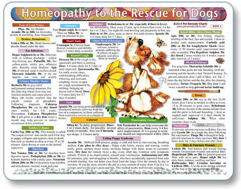 Homeopathy to the Rescue for Dogs Laminated Remedy Card