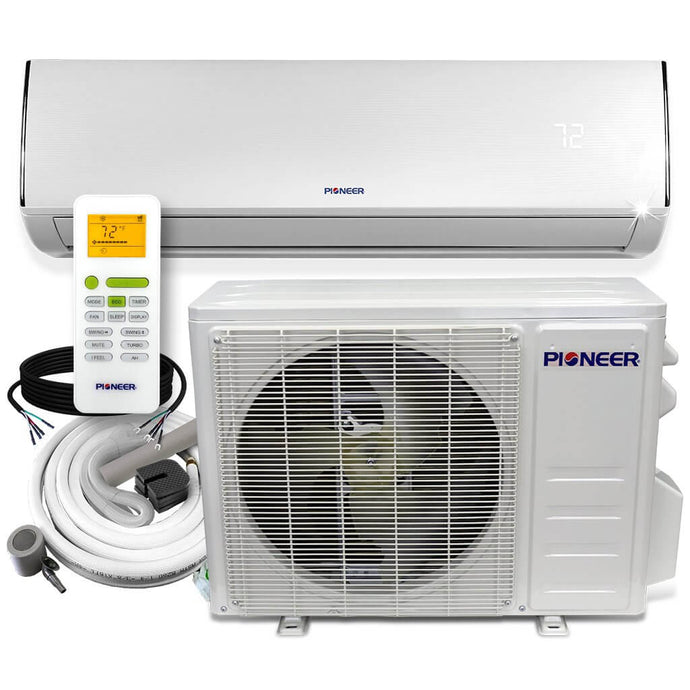 Pioneer Diamante Series 9K BTU 20 SEER 115V Ductless Mini-Split Air Conditioner Heat Pump Full Set w/ 16ft Kit