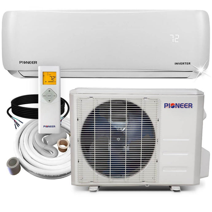 Pioneer 18K BTU 20.8 SEER 230V Ductless Mini Split Air Conditioner Heat Pump