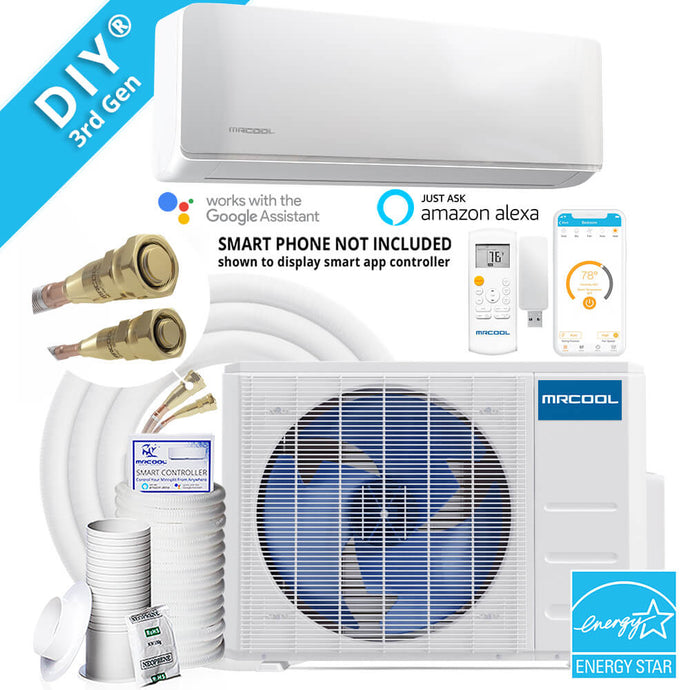 MRCOOL DIY 3rd Gen 12k BTU 22 SEER Ductless Mini-Split Heat Pump with 25ft Lineset