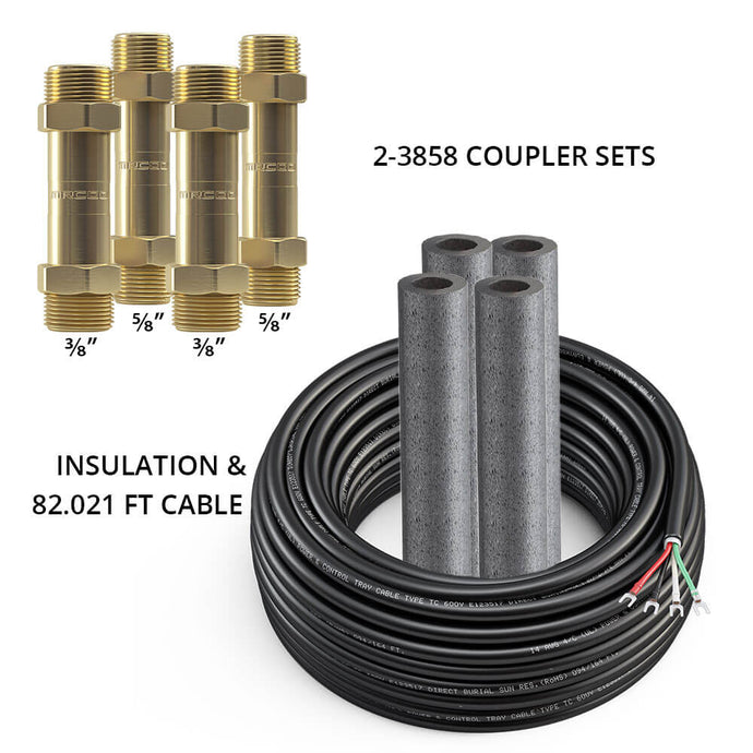 MRCOOL DIY 3/8 X 5/8 Coupler (Two Sets) w/ 75ft of Communication Wire