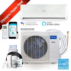 MRCOOL Olympus Hyper Heat 9,000 BTU 0.75 Ton Ductless Mini Split Air Conditioner and Heat Pump - 230V/60Hz