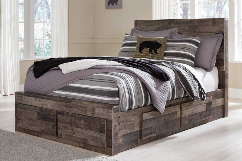 Derekson Benchcraft Bed with 6 Storage Drawers