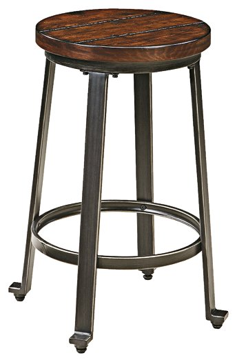 Challiman Signature Design 2-Piece Bar Stool Package