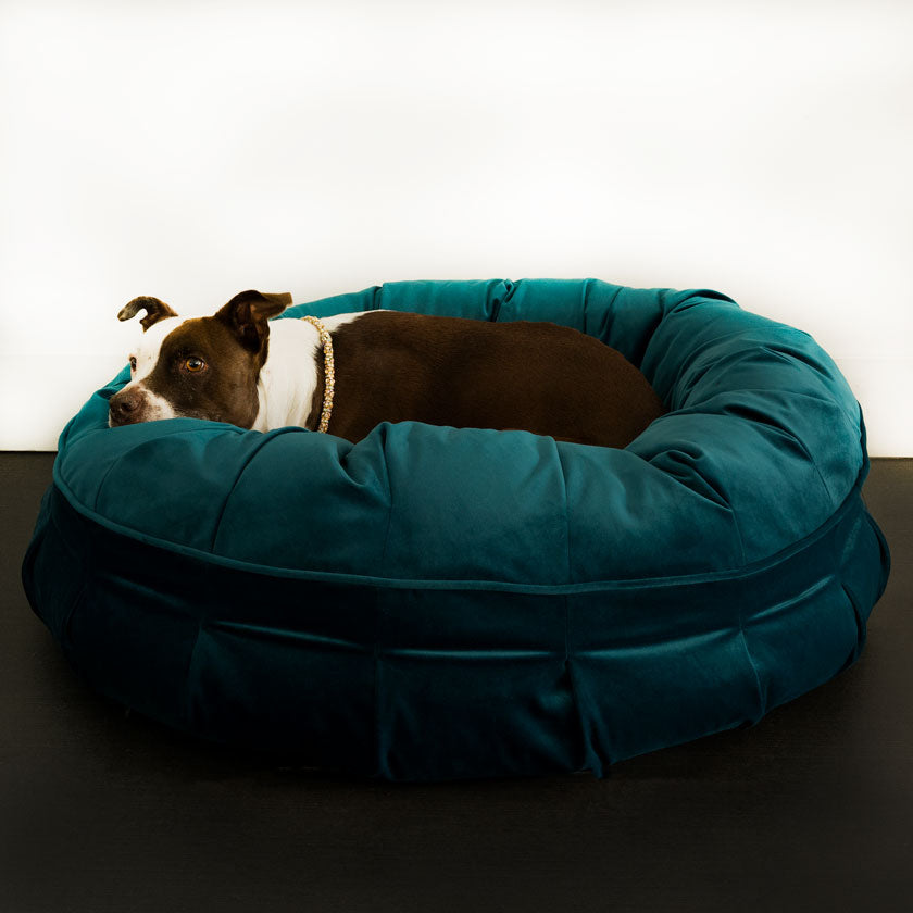 Animals Matter Ali Jewel Ortho Puff Luxury Dog Bed Emerald Teal