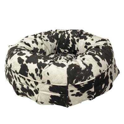 Animals Matter® Animal Print Puff - Black Cow