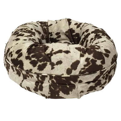 Animals Matter® Animal Print Puff - Brown Cow