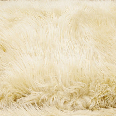 Animals Matter Faux Fur Shag Orthopedic Rectangle-Camel-Luxury Dog Bed