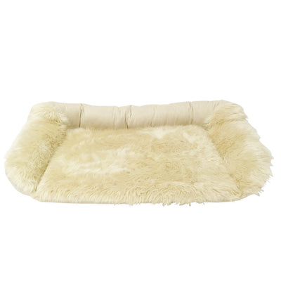 Animals Matter Faux Fur Shag Sydney Orthopedic Luxury Dog Bed Camel