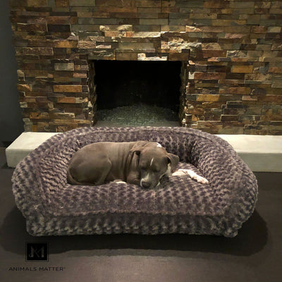Animals Matter Katie Puff Couch Luxury Dog Bed Charcoal