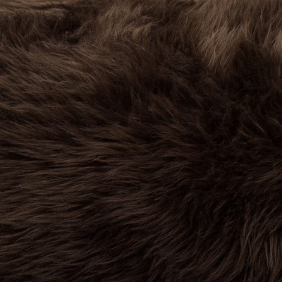 Animals Matter Faux Fur Shag Orthopedic Rectangle-Chocolate-Luxury Dog Bed