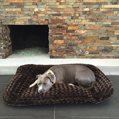 Animals Matter Katie Puff Sydney Luxury Dog Bed Chocolate