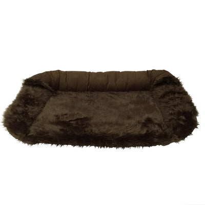 Animals Matter Faux Fur Shag Sydney Orthopedic Luxury Dog Bed Chocolate