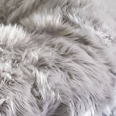 Animals Matter Faux Fur Shag Sydney Orthopedic Luxury Dog Bed Gray