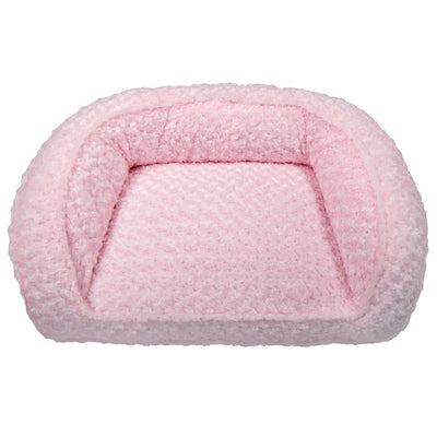 Animals Matter Katie Puff Couch Luxury Dog Bed Pink