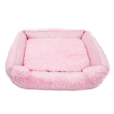 Animals Matter Faux Fur Shag Lounger Ortho Pink Luxury Dog Bed
