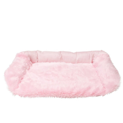 Animals Matter Faux Fur Shag Sydney Orthopedic Luxury Dog Bed Pink