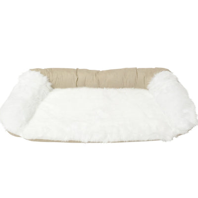 Animals Matter Faux Fur Shag Sydney Orthopedic Luxury Dog Bed White