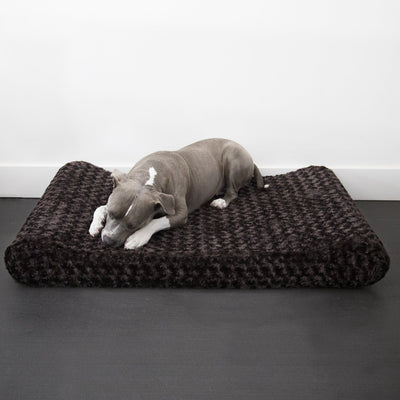 Animals Matter Katie Puff Ortho Contour Lounger Chocolate