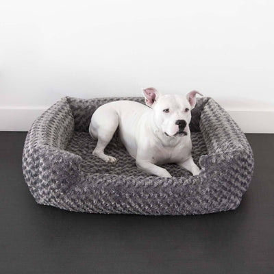 Animals Matter Katie Puff Orthopedic Lounger Luxury Dog Bed Charcoal