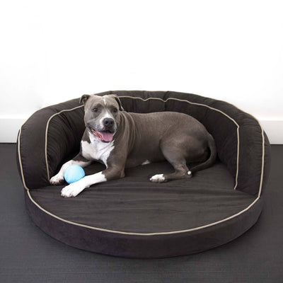 Animals Matter LA Dog Ortho Bolster-Chocolate-Luxury Dog Bed