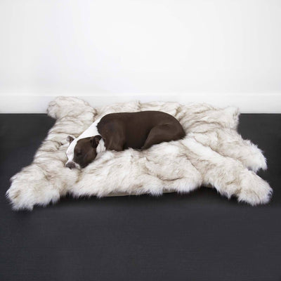 Animals Matter Faux Fur Luxury Shag Bear Dog Bed Rug