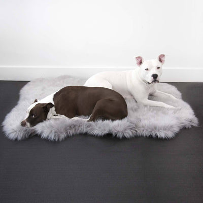 Animals Matter Ortho Faux Fur Shag Rug Luxury Dog Bed Gray