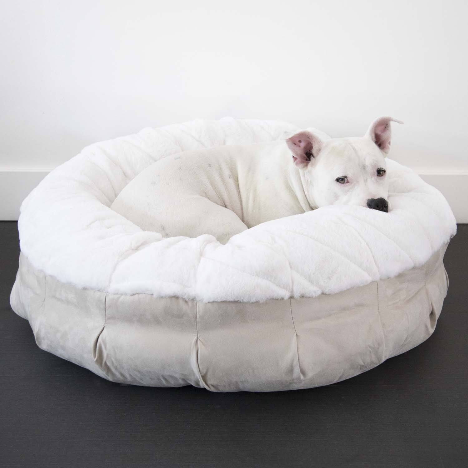Animals Matter Pearl Puff Orthopedic Luxury Dog Bed Ivory-Oyster