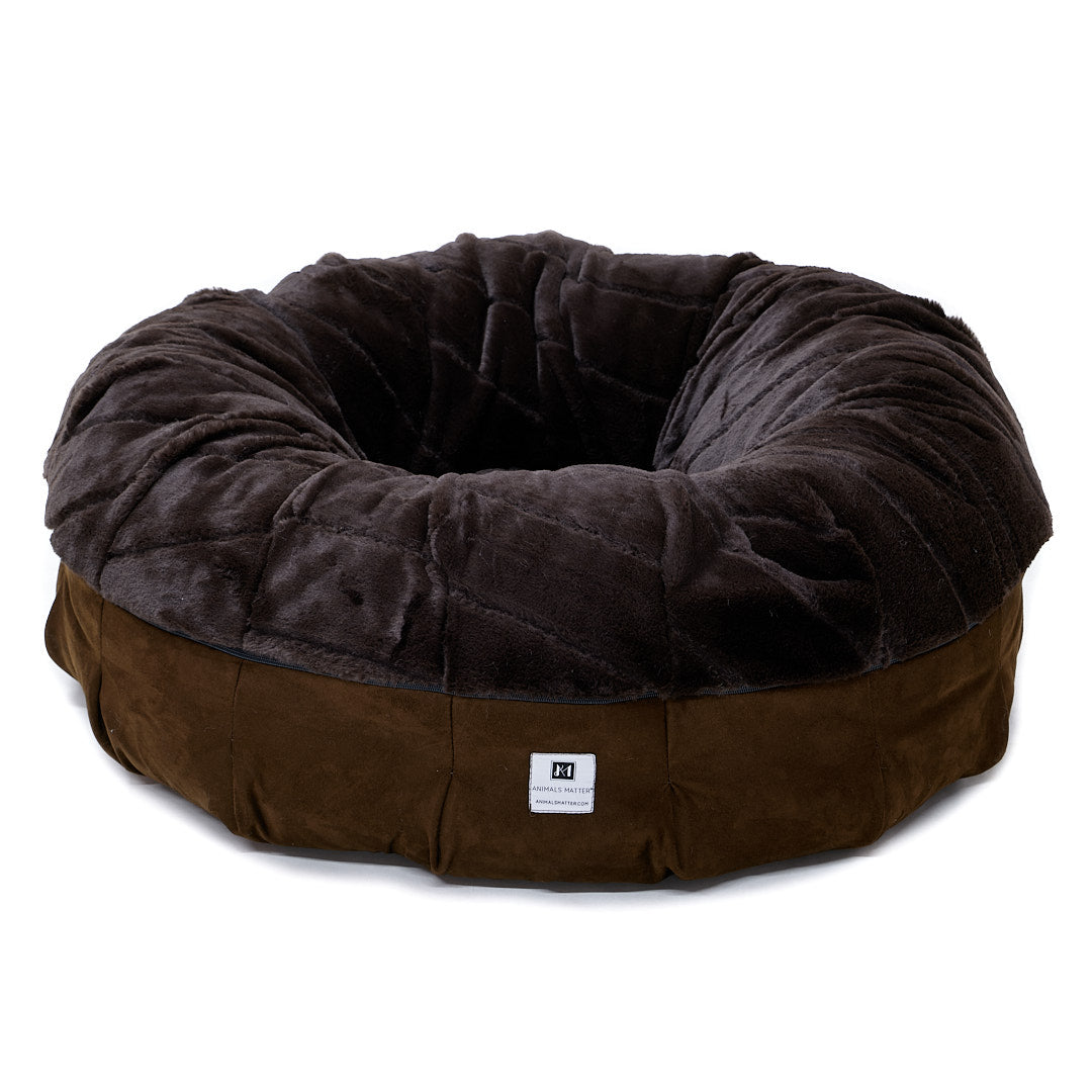 Animals Matter Black Friday Cozy Puff Luxury Dog Bed Chocolate
