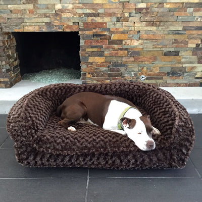 Animals Matter Katie Puff Couch Luxury Dog Bed Chocolate