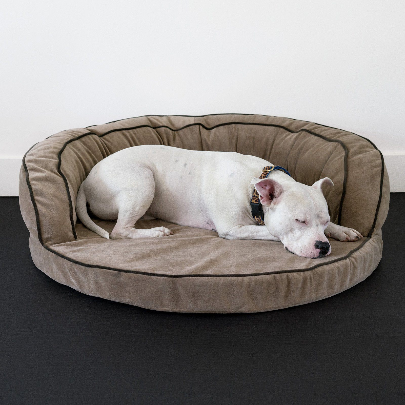 Animals Matter LA Dog Ortho Bolster-Khaki-Luxury Dog Bed