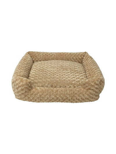 Animals Matter Katie Puff Lounger Luxury Dog Bed Camel