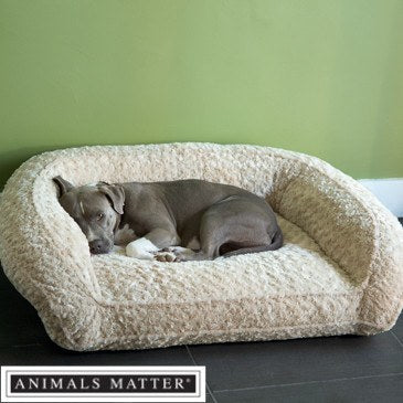 Animals Matter Katie Puff Couch Luxury Dog Bed Camel