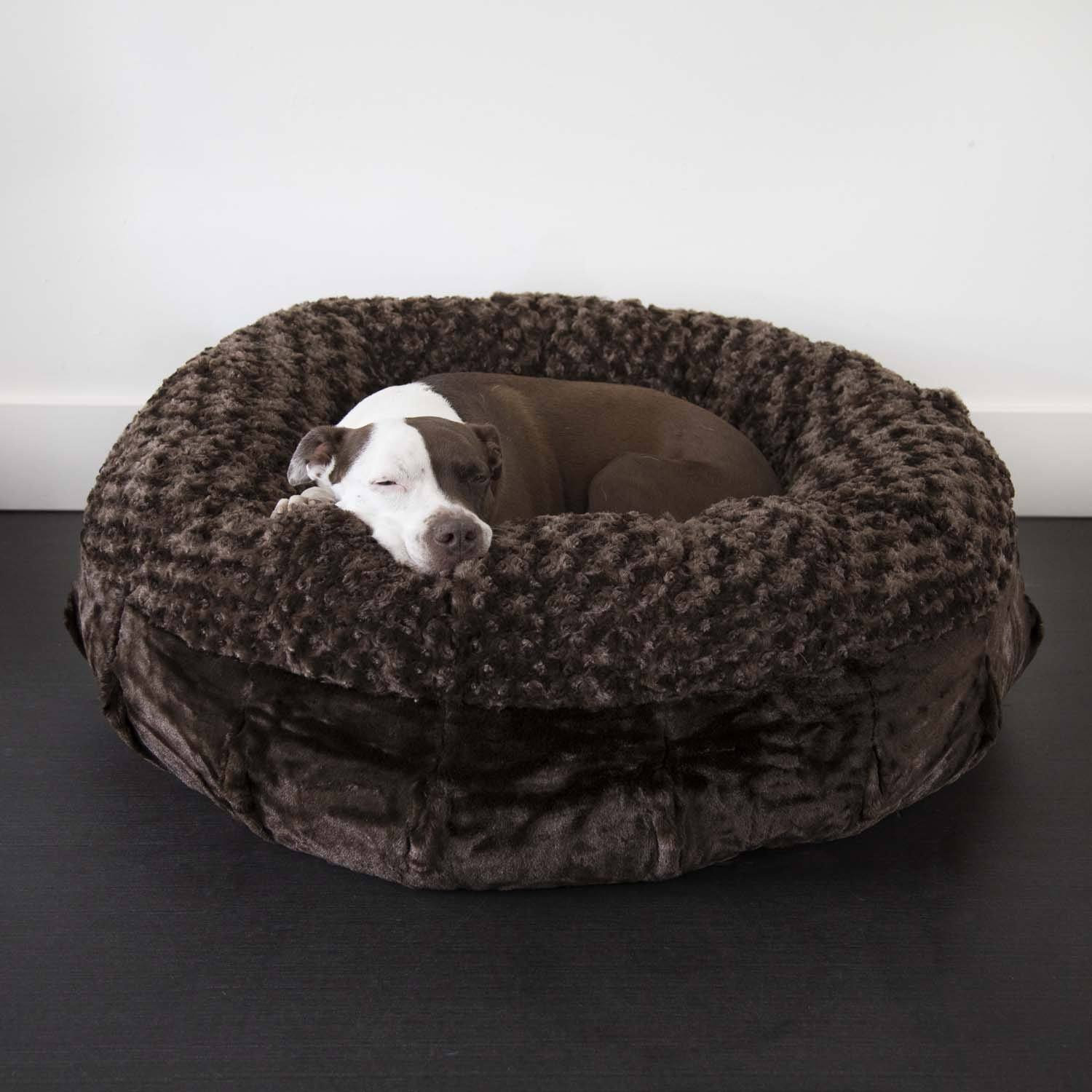 luxury dog beds. Animals Matter Katie Puff Orthopedic Luxury Dog Bed Chocolate Beds -