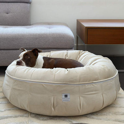Animals Matter Ali Jewel Ortho Puff Luxury Dog Bed Diamond Sand
