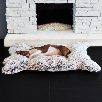 Animals Matter Luxury Faux Fur Frosted Charcoal Snug Bear Rug