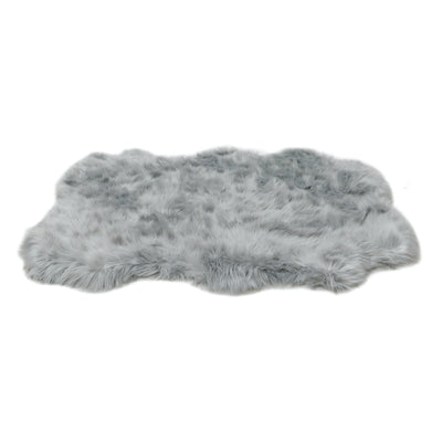 Animals Matter orthopedic Faux Fur shag rug luxury dog bed Gray