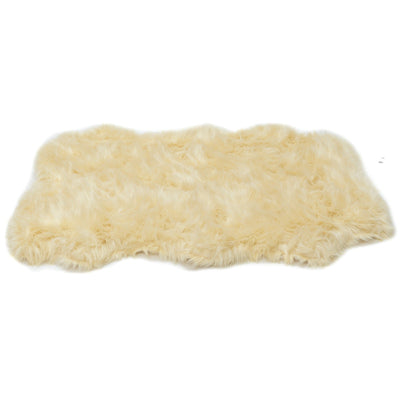 Animals Matter orthopedic Faux Fur shag rug luxury dog bed Camel