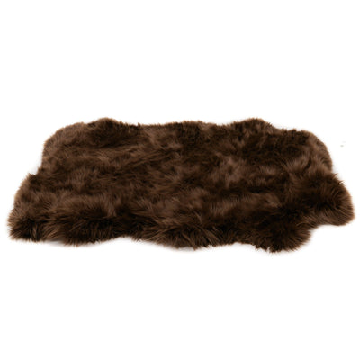 Animals Matter orthopedic Faux Fur shag rug luxury dog bed Chocolate