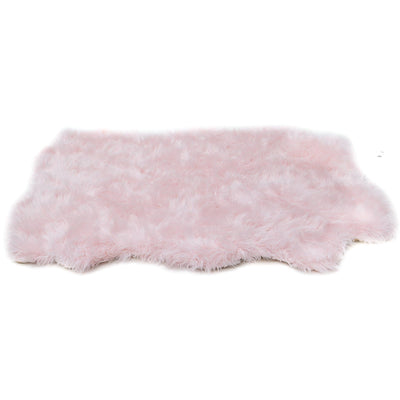 Animals Matter orthopedic Faux Fur shag rug luxury dog bed Pink