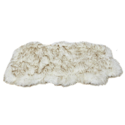Animals Matter orthopedic Faux Fur shag rug luxury dog bed Brown Tip White