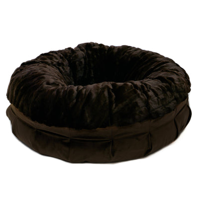 Animals Matter® Daisy Puff™ - Faux Fur Sable Mink Orthopedic CertiPur-US Luxury Dog Bed