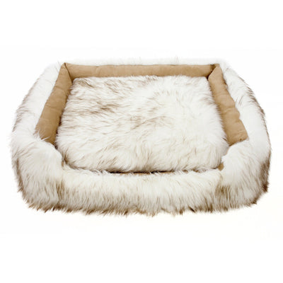 Animals Matter® Shag Lounger™ - White Brown Tip
