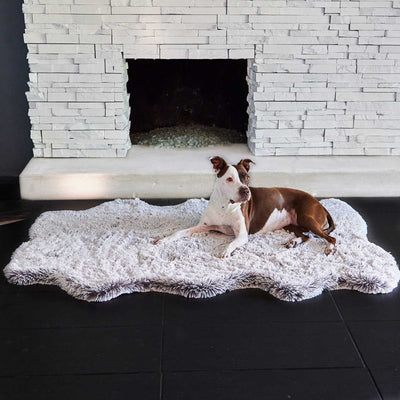 Animals Matter Luxury Faux Fur Orthopedic Snug Rug Bed Frosted Charcoal