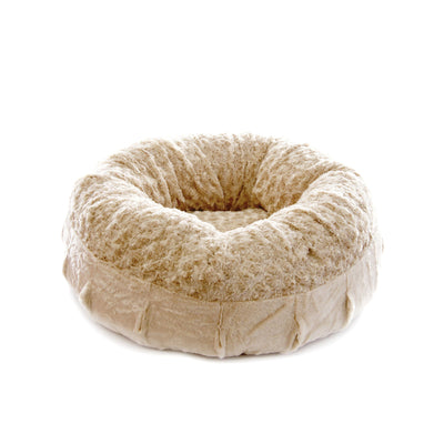 Animals Matter Katie Puff Orthopedic Luxury Dog Bed Camel