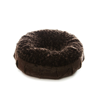Animals Matter Katie Puff Orthopedic Luxury Dog Bed Chocolate