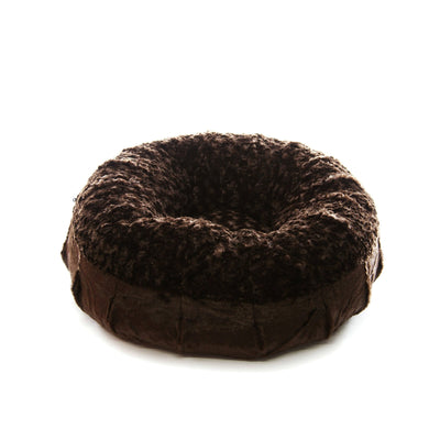 Animals Matter Katie Puff Luxury Dog Bed Chocolate