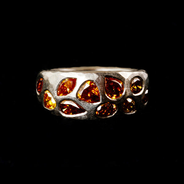 Vivid Coloured Diamond Ring