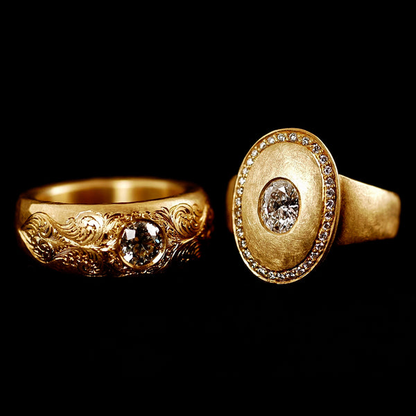 18ct Gold Old Cut Diamond Rings